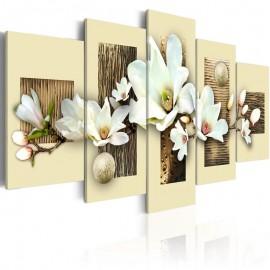 Cuadro - Textura y magnolia