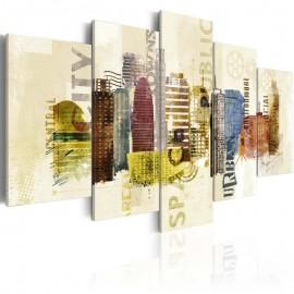 Cuadro - Diseño urbano - 5 piezas