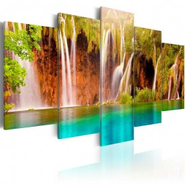 Quadro - Forest waterfall