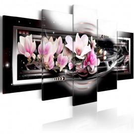 Quadro - Magnolias on a black background