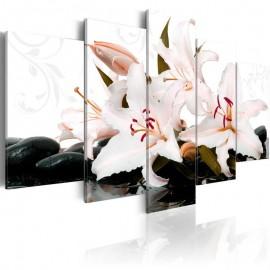 Quadro - Zen stones and lilies