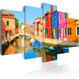 Cuadro - Waterfront in rainbow colors