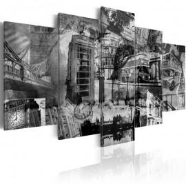 Quadro - A essência de Londres - 5 peças