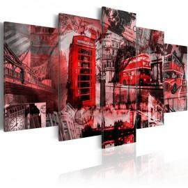 Quadro - Londres colagem - 5 peças