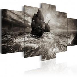 Cuadro - Un barco en plena tormenta