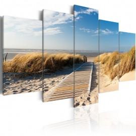 Cuadro - Playa salvaje - 5 piezas
