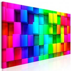 Quadro - Colourful Cubes (1 Part) Narrow