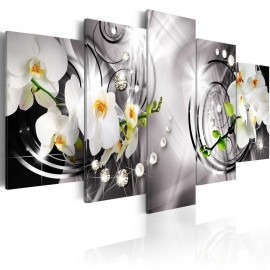 Quadro - Orchid, pearls and diamonds