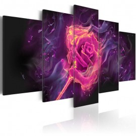 Cuadro - Las llamas de rosa