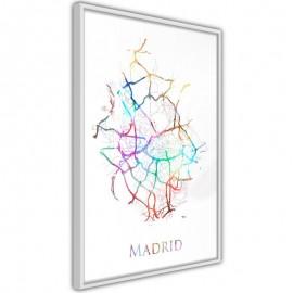 Pôster - City Map: Madrid (Colour)