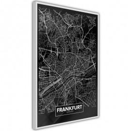 Pôster - City Map: Frankfurt (Dark)