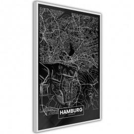 Pôster - City Map: Hamburg (Dark)