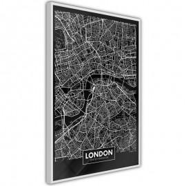 Pôster - City Map: London (Dark)