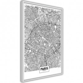 Póster - City Map: Paris