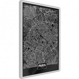 Pôster - City Map: Paris (Dark)