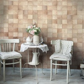 Fotomural - Wooden geometry