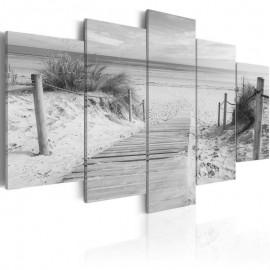 Cuadro - Mañana en la playa - en blanco y negro