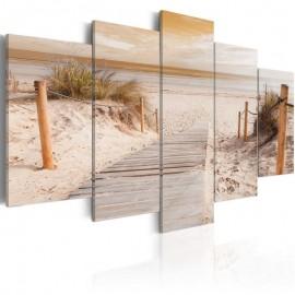 Cuadro - Mañana en la playa - sepia