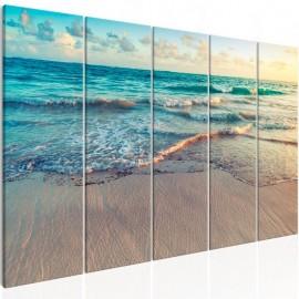 Quadro - Beach in Punta Cana (5 Parts) Narrow