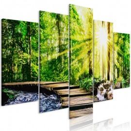 Quadro - Forest Footbridge (5 Parts) Wide