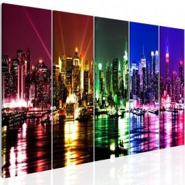 Quadro - Rainbow New York (5 Parts) Narrow