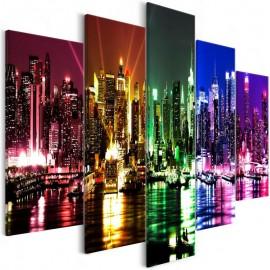 Quadro - Rainbow New York (5 Parts) Wide