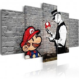 Cuadro - Super Mario Mushroom Cop (Banksy)