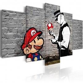 Quadro - Super Mario Mushroom Cop (Banksy)