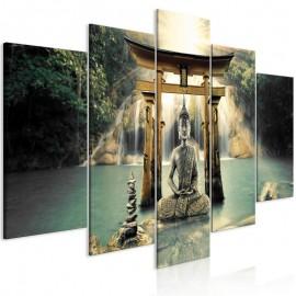 Cuadro - Buddha Smile (5 Parts) Wide