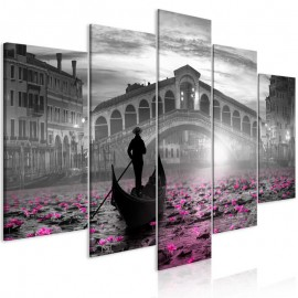Cuadro - Magic Venice (5 Parts) Wide Grey