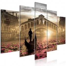 Cuadro - Magic Venice (5 Parts) Wide Orange