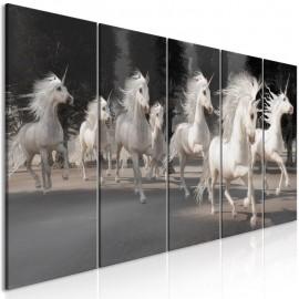 Cuadro - Unicorns Run (5 Parts) Narrow