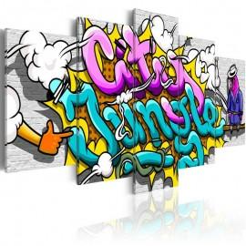 Quadro - Graffiti: city jungle
