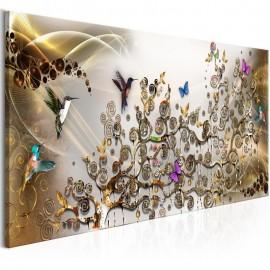 Cuadro - Hummingbirds Dance (1 Part) Gold Narrow