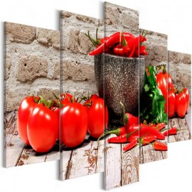 Cuadro - Red Vegetables (5 Parts) Brick Wide
