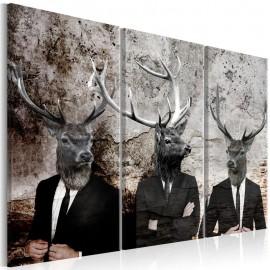 Quadro - Deer in Suits I