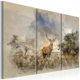 Quadro - Deer in the Field I