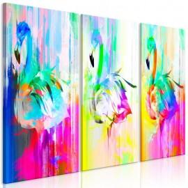 Cuadro - Colourful Flamingos (3 Parts)