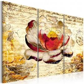 Cuadro - Flor al estilo retro