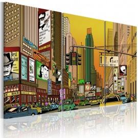 Cuadro - Nueva york en tebeo