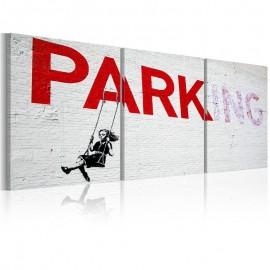 Cuadro - Niña en un columpio (Banksy)