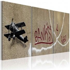 Cuadro - Avión (Banksy)