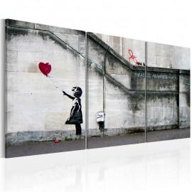 Cuadro - Siempre hay esperanza (Banksy) - tríptico