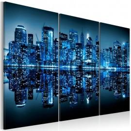 Quadro - Manhattan in blue shade