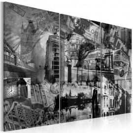 Quadro - A essência de Londres - tríptico
