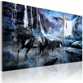 Quadro - Waterfall in colour of sapphire