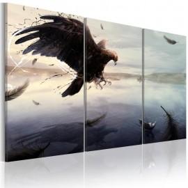 Quadro - Eagle above the surface of a lake