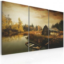 Quadro - Idyllic village - triptych