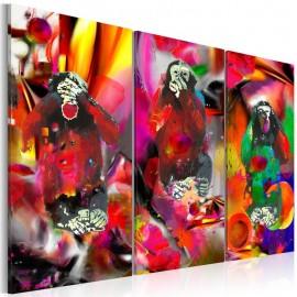Cuadro - Crazy Monkeys - triptych