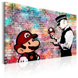 Quadro - Banksy: Colourful Brick
